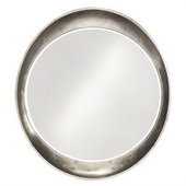 Designer Ellipse Glossy Nickel Mirror - MHE3506