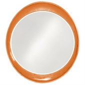 Designer Ellipse Glossy Orange Mirror - MHE3507