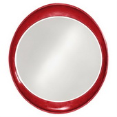 Designer Ellipse Glossy Red Mirror - MHE3508
