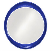 Designer Ellipse Glossy Royal Blue Mirror - MHE3509