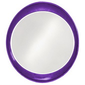 Designer Ellipse Glossy Royal Purple Mirror - MHE3510