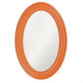 Designer Ethan Glossy Orange Mirror - MHE3555