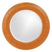 Designer Bergman Orange Small Round Mirror - MHE3591