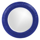 Designer Bergman Royal Blue Small Round Mirror - MHE3593