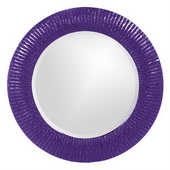 Designer Bergman Royal Purple Small Round Mirror - MHE3594