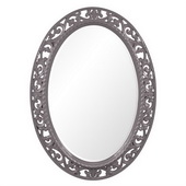 Designer Suzanne Glossy Charcoal Grey Mirror - MHE3667