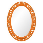 Designer Suzanne Glossy Orange Mirror - MHE3673