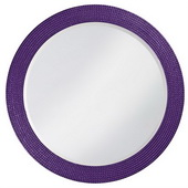 Designer Lancelot Royal Purple Round Mirror - MHE3712