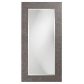 Designer Lancelot Charcoal Gray Rectangle Mirror - MHE3728