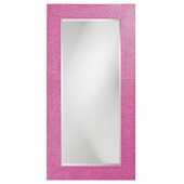 Designer Rectangle Lancelot Glossy Hot Pink Mirror - MHE3729
