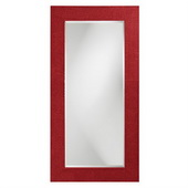 Designer Lancelot Red Rectangle Mirror - MHE3735