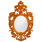 Designer Dorsiere Orange Mirror - MHE3745