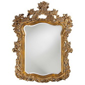 Designer Antique Museum Gold w Whitewash Highlights Mirror - MHE2614