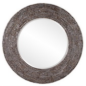 Designer Orlando Round Mother of Pearl Mirror - MHE3785