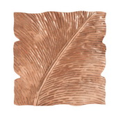 Designer Square Leaf Wall Decor Antique Copper Small - MHE4994