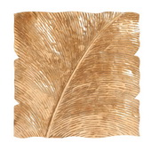 Designer Square Leaf Wall Decor Antique Gold Medium - MHE4995