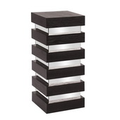 Howard Elliott Stepped Black Wood Pedestal - Medium - MHE4575