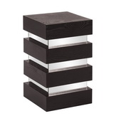 Howard Elliott Stepped Black Wood Pedestal - Small - MHE4576