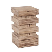Designer Stepped Natural Wood Pedestal - Small - MHE4579