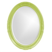 Designer Queen Ann Green Mirror - MHE3809