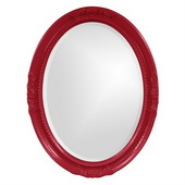 Designer Queen Ann Red Mirror - MHE3811