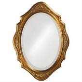 Designer Mirror Virginia Gold Leaf - MHE2870