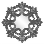 Designer Annabelle Charcoal Gray Baroque Mirror - MHE3932