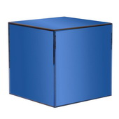 Designer Blue Mirrored Cube Table - MHE4365