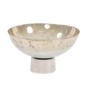 Designer Round Grotto Glass Footed Bowl - MHE4860