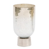 Designer Round Grotto Glass Footed Vase - Small - MHE4861