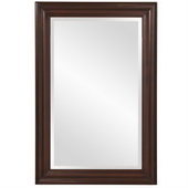 Designer George Rectangular Brown Mirror - MHE4063