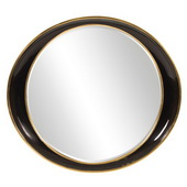 Designer Ellipse Black Gold Mirror - MHE5291