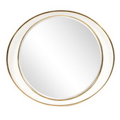 Designer Ellipse White Gold Mirror - MHE5292