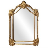 Designer Antique Gold Leaf Mirror - MHE3182