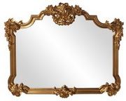 MHE Antique Gold Leaf Mirror - MHE3184