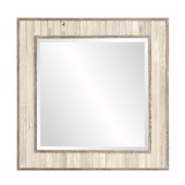 Howard Elliott Sawyer Wood Plank Square Mirror - MHE5698
