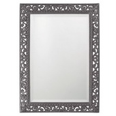 Designer Rectangle Bristol Glossy Charcoal Gray Mirror - MHE4151