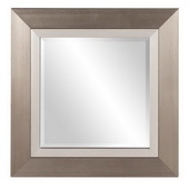 Designer Chicago Brushed Silver Square Mirror - MHE3374