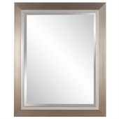 Designer Chicago Brushed Silver Mirror - MHE3376