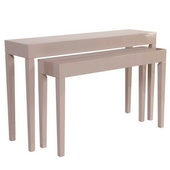 Designer Glossy Taupe Nesting Console Table Set - MHE4655