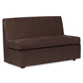 Howard Elliott Bella Chocolate Slipper Loveseat - MHE4626