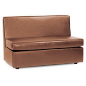 Howard Elliott Luxe Bronze Slipper Loveseat - MHE4633