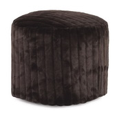 Designer Tall Pouf Mink Brown - MHE4518