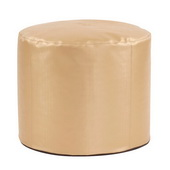 Designer Luxe Gold Tall Pouf Ottoman - MHE4523