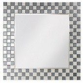 Designer Mirror With Checkerboard Mosaic Frame - MHE3390
