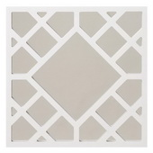 Designer Anakin White Lattice Mirror - MHE4205