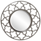 Designer Brushed Nickel Open Cut Work Frame Mirror - MHE3408