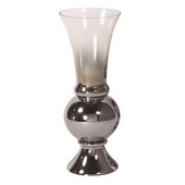 Designer Smokey Glass Fluted Small Vase - MHE4952