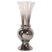 Designer Smokey Glass Fluted Large Vase - MHE4953