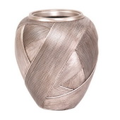 Designer Silver Ribbon Tapered Vase - MHE4939